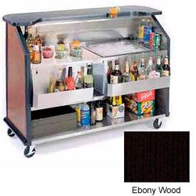"""Geneva Lakeside 64"""" Portable Beverage Bar, Insulated Ice Bin, 887-EbonyWood"""