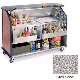 "Geneva Lakeside 64"" Portable Beverage Bar, Insulated Ice Bin, 887-GreySand"