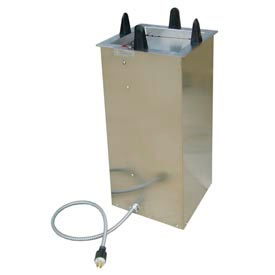 """Lakeside® S6011, Square Heated Drop-In Plate Dispenser - 10-1/2"""" To 11-1/4"""" Plates"""