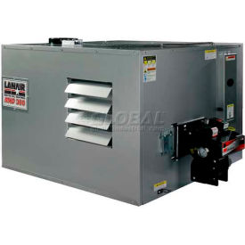 Lanair® Ductable Waste Oil Heater, MXD-300B, 300000 BTU With 80 Gallon Tank, Wall Chimney Kit