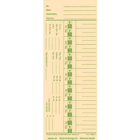 Lathem Weekly Time Card 1900L for Mechanical & Automatic Time Clock by