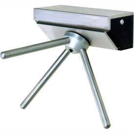 3-Arm Stainless Steel Wall Mounted Turnstile, Right Hand Rotation-With Counter/Register
