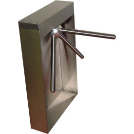3-Arm Mechanical Turnstile Right Handed w/ Locked Exit, Satin Stainless