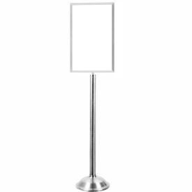 """Tensator Polished Chrome Heavy Duty 14""""x22"""" Traditional Sign Stand"""