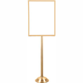 """Tensator Polished Brass Heavy Duty 22""""x28"""" Traditional Sign Stand"""