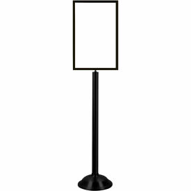 "Tensator Black Heavy Duty 14""x22"" Traditional Sign Stand"