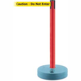 Tensabarrier Red Outdoor Post 7.5'L BLK/YLW Caution-Do Not Enter Retractable Belt Barrier