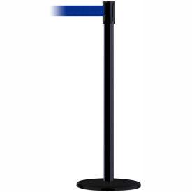 Tensabarrier Black Slimline 7.5'L Blue Retractable Belt Barrier