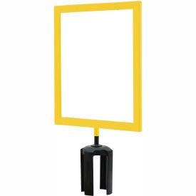 "Tensabarrier Yellow Heavy Duty 8.5""x11"" Sign Frame"