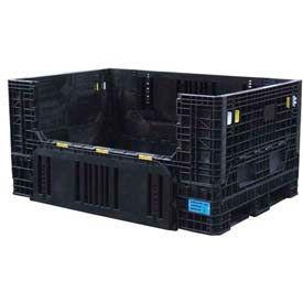 "ORBIS Heavy-Duty BulkPak HDR7048-34 Container, 70""L x 48""W x 34""H, 1500 Lbs. Capacity Black"