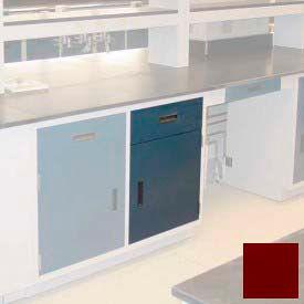 "Lab Base Cabinet 18""W x 22-1/2""D x 35-3/4""H, 1 Drawer, 1 Cupboard Door W/1 Adj Shelf, Burgundy"