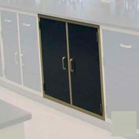 "Lab Base Cabinet 35""W x 22-1/2""D x 35-3/4""H, 2 Cupboard Doors W/1 Shelf, Champagne"