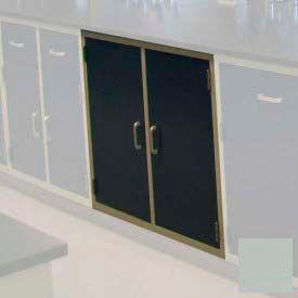 "Lab Base Cabinet 35""W x 22-1/2""D x 35-3/4""H, 2 Cupboard Doors W/1 Shelf, Stone Gray"