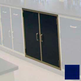 """Lab Base Cabinet 35""""W x 22-1/2""""D x 35-3/4""""H, 2 Cupboard Doors W/1 Shelf, Navy Blue"""