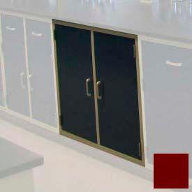 "Lab Base Cabinet 35""W x 22-1/2""D x 35-3/4""H, 2 Cupboard Doors W/1 Shelf, Burgundy"