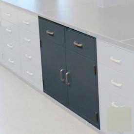 "Lab Base Cabinet 35""W x 22-1/2""D x 35-3/4""H, 2 Drawers, 2 Cupboard Doors, W/1 Shelf, Champagne"