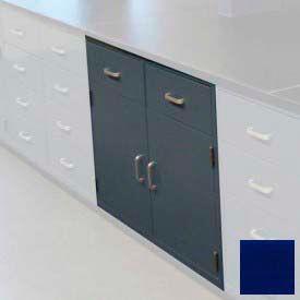 "Lab Base Cabinet 47""W x 22-1/2""D x 35-3/4""H, 2 Drawers, 2 Cupboard Doors, W/1 Shelf, Navy Blue"