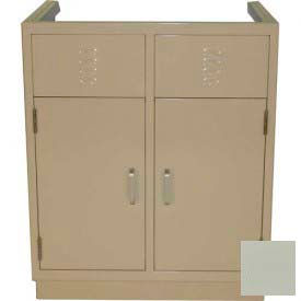 "Lab Base Cabinet 35""W x 22-1/2""D x 35-3/4""H, Louvered Panels W/2 Cupboard Doors, Champagne"