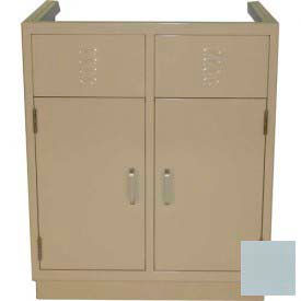 "Lab Base Cabinet 35""W x 22-1/2""D x 35-3/4""H, Louvered Panels W/2 Cupboard Doors, Model Gray"