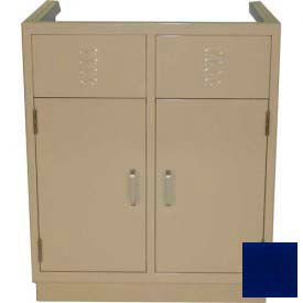 "Lab Base Cabinet 35""W x 22-1/2""D x 35-3/4""H, Louvered Panels W/2 Cupboard Doors, Navy Blue"