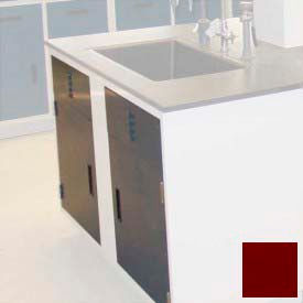"""Lab Base Cabinet Sink Base 58""""W x 22-1/2""""D x 35-3/4""""H, Louvered Panels W/2 Cupboard Doors, Burgundy"""
