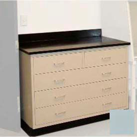 """Lab Base Cabinet 35""""W x 22-1/2""""D x 35-3/4""""H, 2 Drawers & 3 Full Width Drawers, Model Gray"""