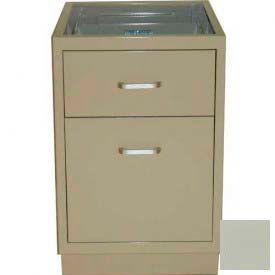 "Lab Base Desk Height Cabinet 18""W x 22-1/2""D x 28-1/2""H, 1 Drawer, 1 Filing Drawer, Champagne"