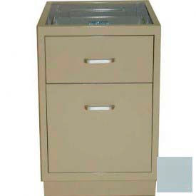 "Lab Base Desk Height Cabinet 18""W x 22-1/2""D x 28-1/2""H, 1 Drawer, 1 Filing Drawer, Model Gray"