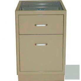 "Lab Base Desk Height Cabinet 18""W x 22-1/2""D x 28-1/2""H, 1 Drawer, 1 Filing Drawer, Stone Gray"
