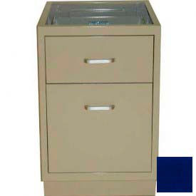 "Lab Base Desk Height Cabinet 18""W x 22-1/2""D x 28-1/2""H, 1 Drawer, 1 Filing Drawer, Navy Blue"