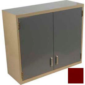 "Lab Wall Cabinet 35""W x 13""D x 30""H, 2 Steel Doors, 2 Adj Shelves, Burgundy"