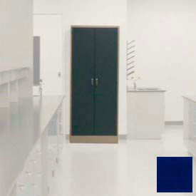 "Lab Wall Freestanding Cabinet 35""W x 18""D x 84-1/4""H, 2 Steel Doors, 5 Adj Shelves, Navy Blue"