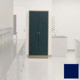 "Lab Wall Freestanding Cabinet 35""W x 18""D x 84-1/4""H, 2 Steel Doors, 5 Adj Shelves, Navy Blue"