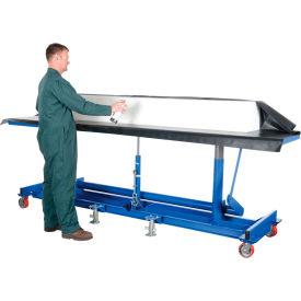 Vestil Extra-Long Deck Mobile Work Positioning Lift Table Cart LDLT-3072