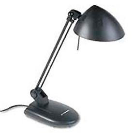 "High-Output Halogen Desk Lamp, 17"" Reach, Matte Black"
