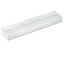 "Low-Profile Fluorescent Under-Cabinet Fixture, 18""W x 1-1/2""D, White"