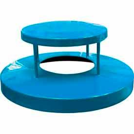 32 Gallon Dome Bonnet Lid - Blue