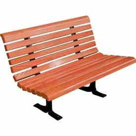 4 Ft. Mahogany Deluxe Bench