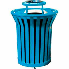 Garbage Can Amp Recycling Steel Outdoor 32 Gallon