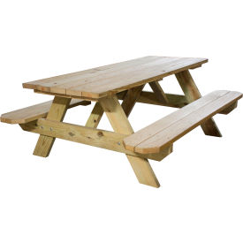 Leisure Craft 6 Ft All Wooden Picnic Table
