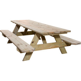 Leisure Craft 8 Ft All Wooden Picnic Table