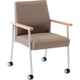 Mystic Guest Chair w/ Casters, 275 lb. Cap. Natural Arm Cap Fandango Apple