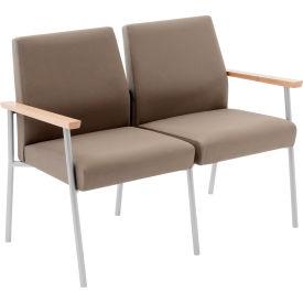 Mystic 2 Seat Sofa, Walnut Arm Cap Kilkenny Tweed Nightshade