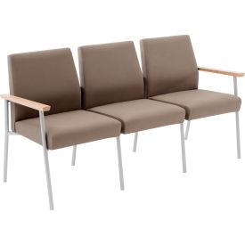 Mystic 3 Seat Sofa, Natural Arm Cap Kilkenny Tweed Stone