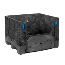 "ORBIS Heavy-Duty BulkPak HDMC4845-34 Containers, 48""L x 44-1/2""W x 34""H, 1800 Lbs. Black"