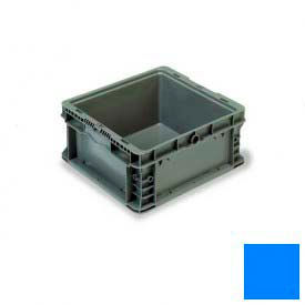 """ORBIS Stakpak NXO1215-7 Modular Straight Wall Container, 12""""L x 15""""W x 7-1/2""""H, Blue"""