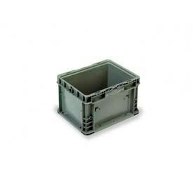 """ORBIS Stakpak NXO1215-9 Modular Straight Wall Container, 12""""L x 15""""W x 9-1/2""""H, Gray"""