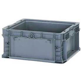 """ORBIS Stakpak NSO1615-7 Modular Straight Wall Container, 16""""L x 15""""W x 7-1/2""""H, Gray"""
