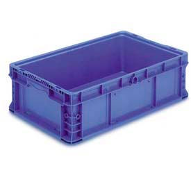"""ORBIS Stakpak NXO2415-7 Modular Straight Wall Container, 24""""L x 15""""W x 7-1/2""""H, Blue"""