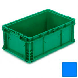 """ORBIS Stakpak NXO2415-9 Modular Straight Wall Container, 24""""L x 15""""W x 9-1/2""""H, Blue"""